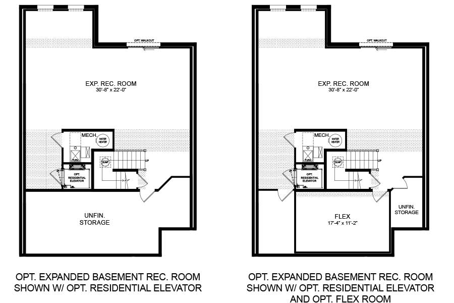 Hanover floor plan odenton new homes anne arundel for Elevator floor plan